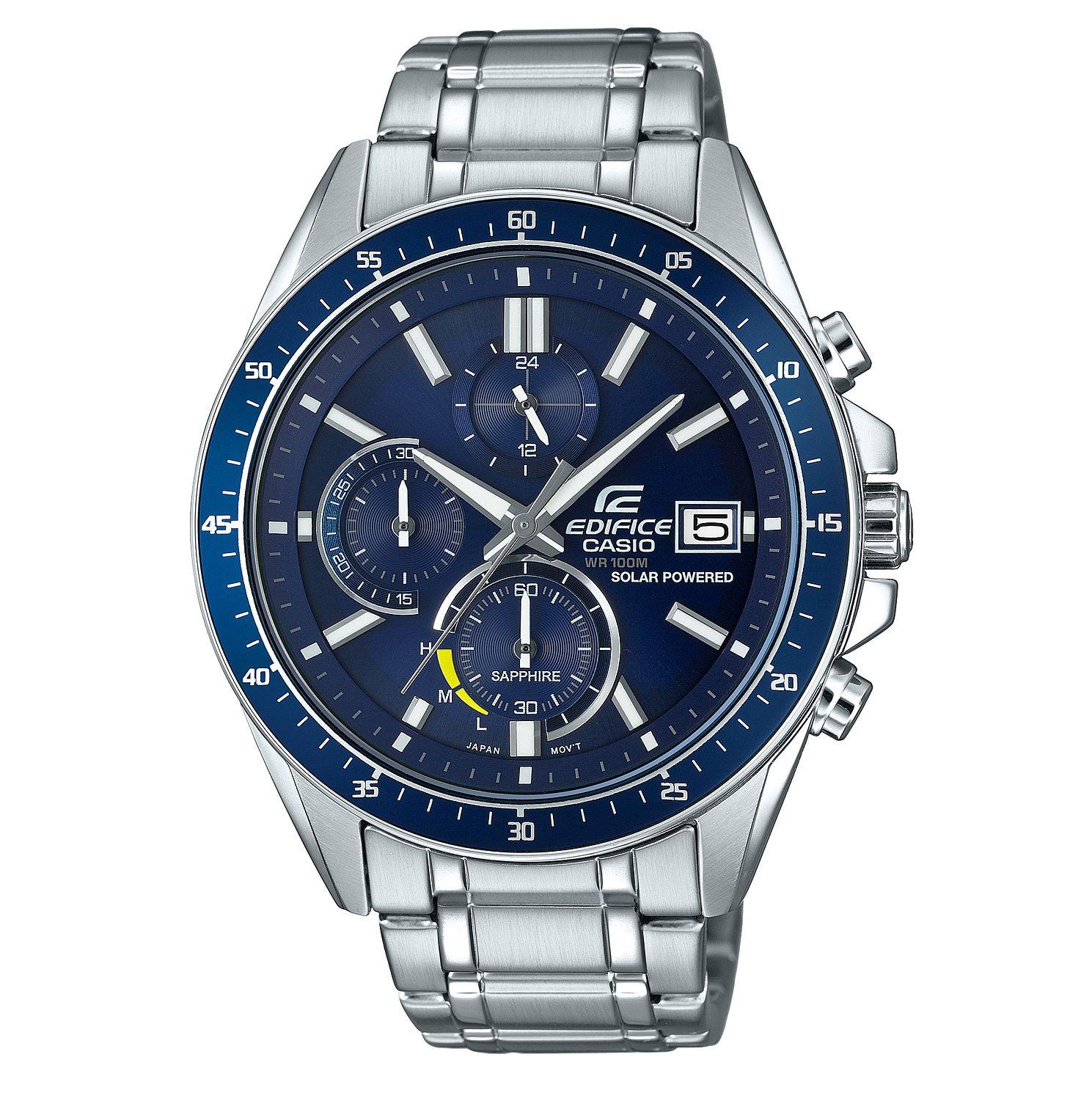 Casio Edifice Men's Sapphire Solar Powered Steel Bracelet Watch £79 at H.Samuel