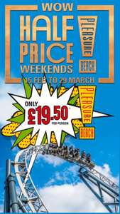 Blackpool pleasure beach half price tickets From 15 Feb to 29 March - £19.50