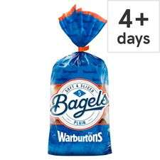 Warburtons Soft & Sliced 5 Bagels for £1 (Plain / Cinnamon & Raisin / Sesame) @ Tesco