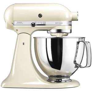 KitchenAid 125 Artisan Mixer 4.8L Almond Cream Now £299 - With Free Flex Edge Beater Worth £35 - ECookshop