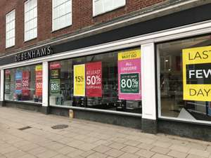 At least 50% off the entire store at Debenhams Welwyn Garden City Closing Down