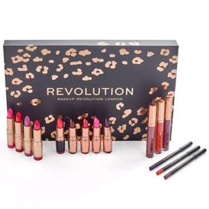 Revolution Beauty up to 70% Off Sale - Lip Revolution Reds Kit now £25 with free delivery + more Palettes from £3.00