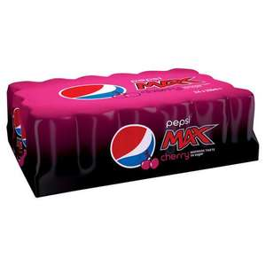 Pepsi Max cherry 24x330ml cans £5.50 @ Tesco