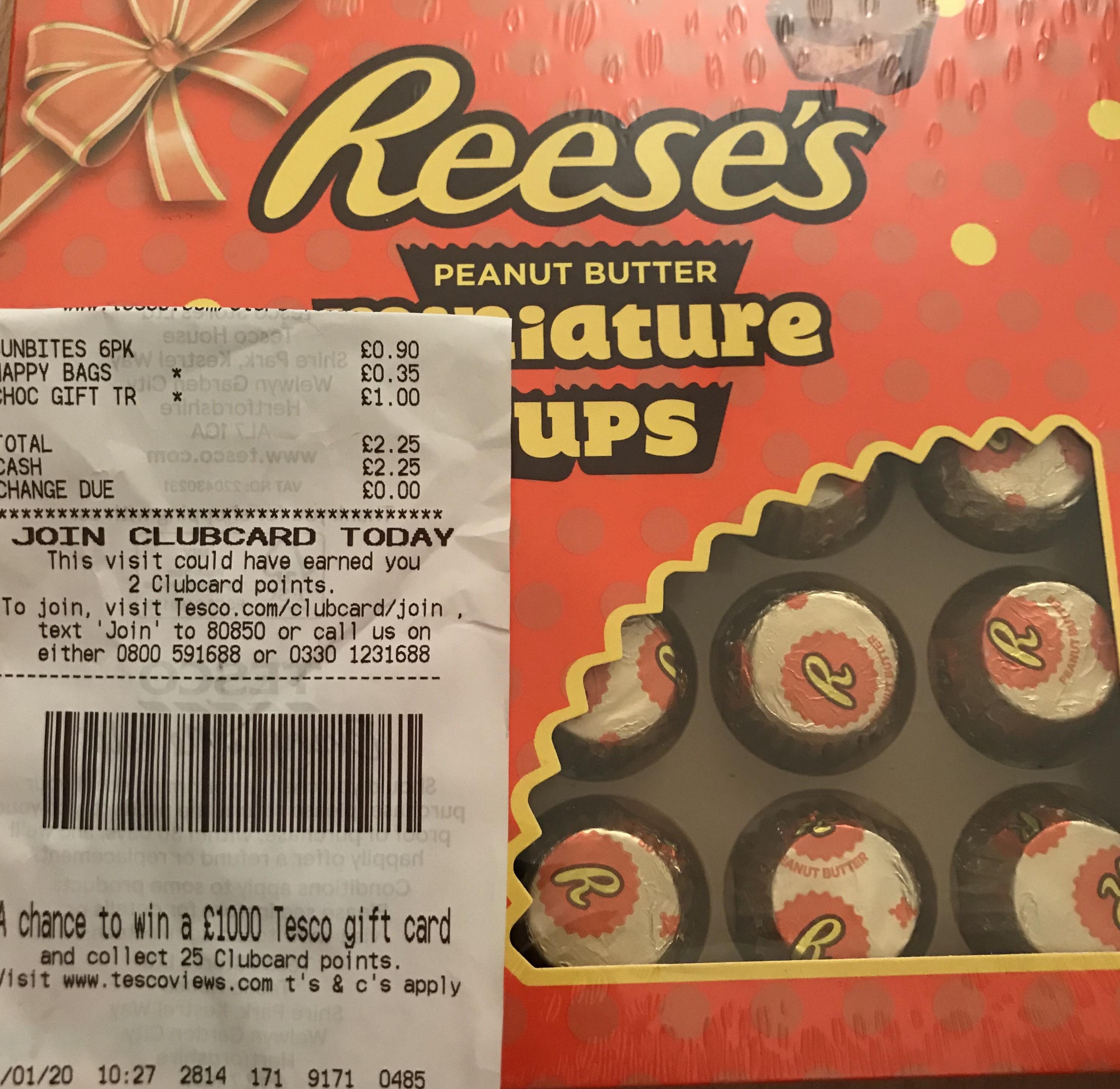 Reeses 25 butter cups - £1 @ Tesco (Leeds)
