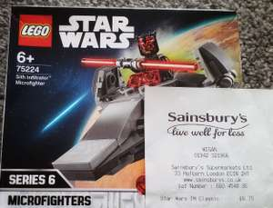 Darth Maul Sith Infiltrator Microfighter Lego £6.75 @ Sainsbury's