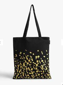 John Lewis & Partners Winter Cotton Tote Bag, Black £1.50 + £2 click and collect at John Lewis & Partners