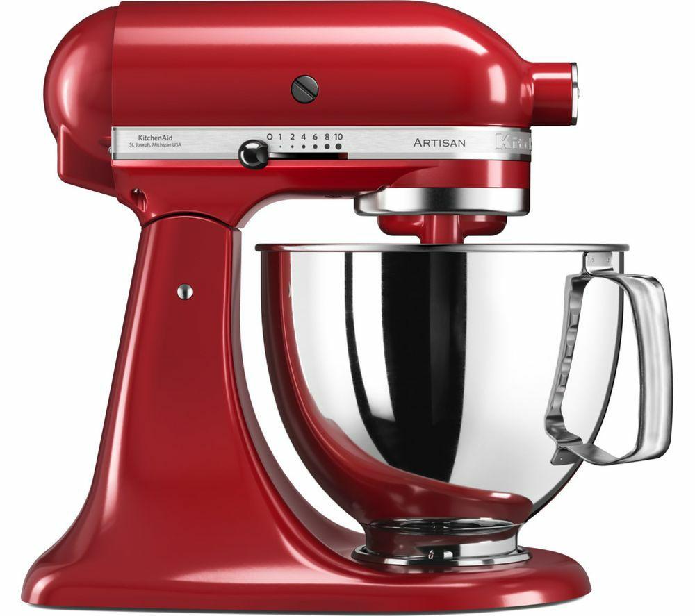KITCHENAIDArtisan 4.8L Stand Mixer - Empire Red - £279.99 @ Currys + 5 year guarantee