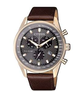 Citizen AT2393-17H Men's Caliber Eco-Drive Chronograph Date Leather Strap Watch - £149.50 at John Lewis and Partners