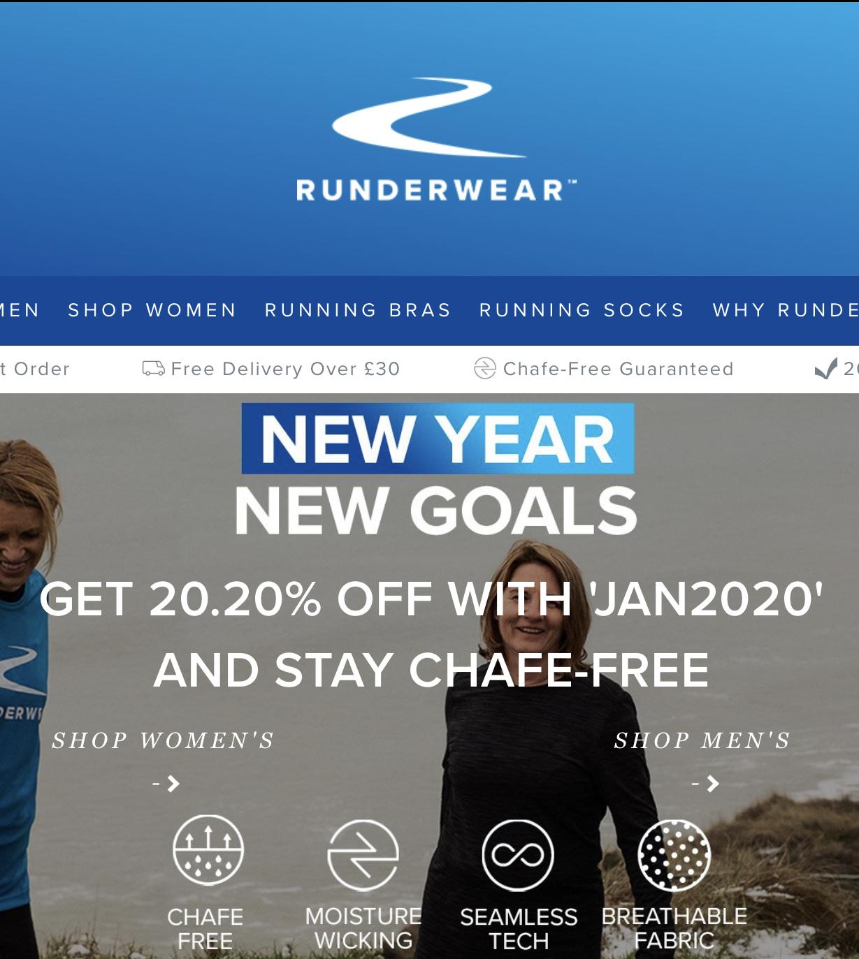20.20% off @ Runderwear