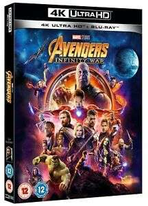 Avengers Infinity War (4K Ultra HD + Blu-ray) [UHD] for £8.99 Delivered @ Ebay/Zoom