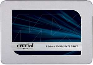 "Crucial MX500 CT1000MX500SSD1(Z) 1 TB (3D NAND, SATA, 2.5""/ M.2) SSD for £89.96/2TB £186.28/500GB £52.28 Delivered @ Amazon"