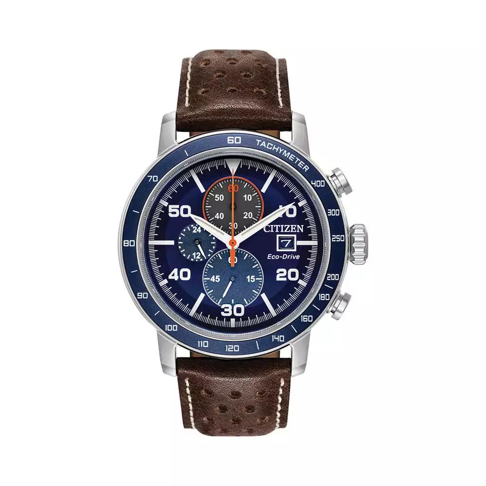 Citizen - Brown Chronograph Eco-Drive Leather Strap Watch Ca0648-09L £90 @ Debenhams
