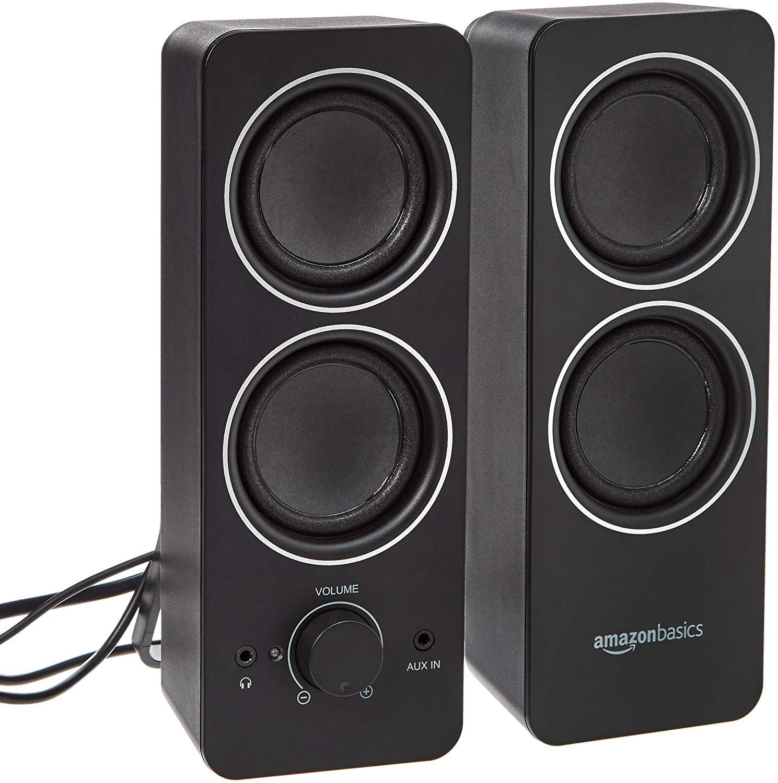 AmazonBasics AC Powered Multimedia External Speakers now £17.24 (Prime) + £4.49 (non Prime) at Amazon