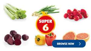 Aldi Super 6 - Radish, Celery, Red Grapefruit, Spring Onions, Mixed Peppers . All 35p
