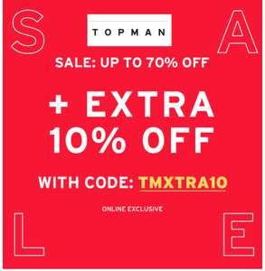 Take an extra 10% OFF sale @ Topman