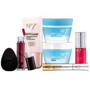 No7 Everyday Essentials Collection now £25.50 click & collect @ Boots