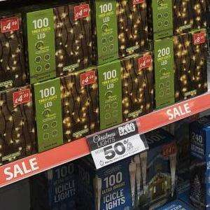 50% off Christmas decorations instore at poundstrecher Swansea