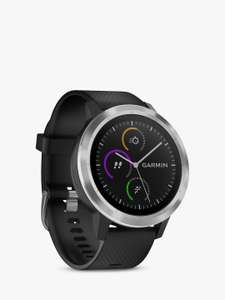 Garmin Vivoactive 3 GPS Smartwatch with Contactless Payment and HR, Black/Stainless £136.99 @ John Lewis & Partners