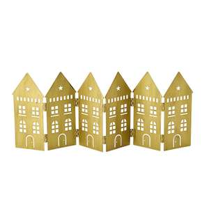 LED Folding Row of Golden Houses Christmas Decoration @ Lakeland £4.99 - FREE click & collect
