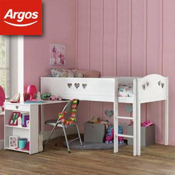 20% Off Kid's Beds & Mattresses when you spend £250 - EG: Mia White Mid Sleeper & Kids Mattress £224.54 Using Code Delivered @ Argos