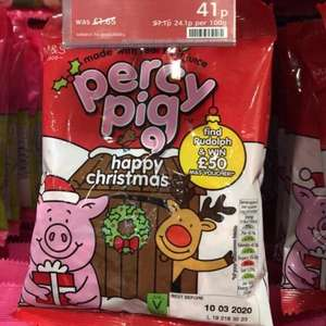 Christmas Percy Pigs reduces to 41p @ M&S