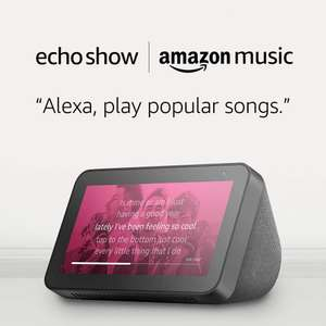 Echo Show 5 Black/White + Amazon Music Unlimited (4 months FREE with auto-renew / New Amazon Music Unltd. Prime members) £49.99 @ Amazon