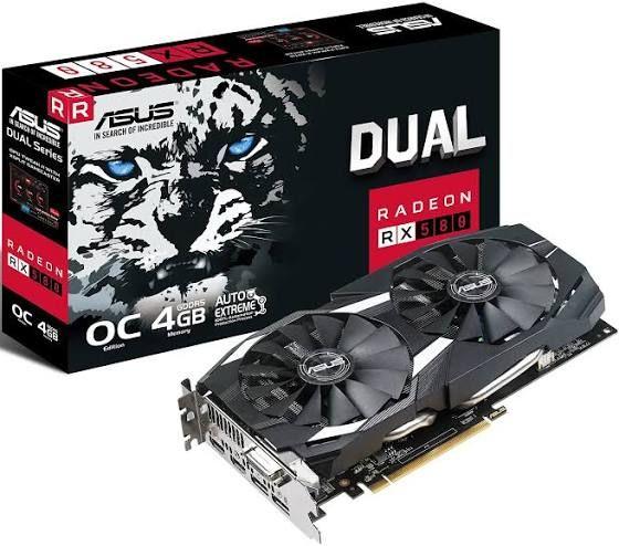 ASUS Radeon RX580 OC Graphics Card - 4 GB £124.98 @ Amazon