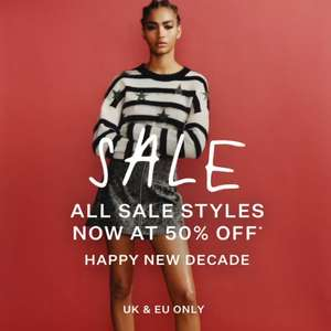 AllSaints Sale - Sale items now have 50% Off with prices from £10 + Free Delivery using code + Free Returns