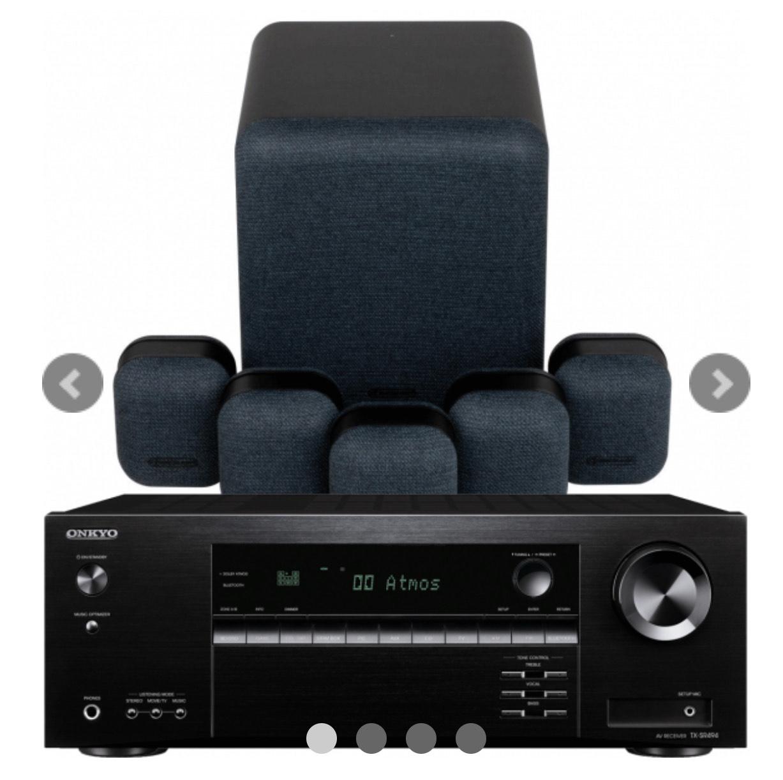 Onkyo TX-SR494 Dolby Atmos AV Receiver w/ Monitor Audio Gen2 Speaker Package 5.1 - £699 @ Exceptional AV