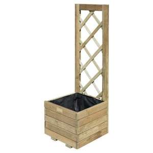 Rowlinson Timber Planter With Trellis for £10 instore @ Wickes