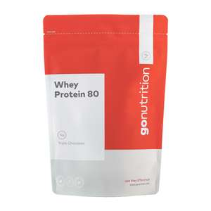 Gonutrituon Whey 80 £24.74 for 2.5kg (+£3.99 Delivery) GoNutrition