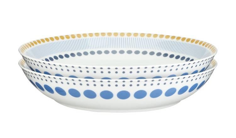 Argos - Apartment Apparel Pasta Bowls - Set of 2 - Free C&C £3.75