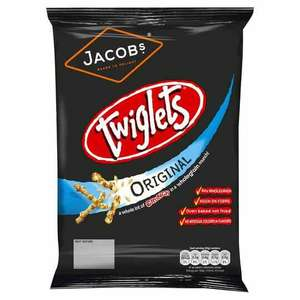 150g bags of Twiglets down to 90p at Tesco, less than half price.