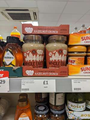 Whole Earth Peanut Butter with Hazelnut Crunch £1 at Heron Foods Birmingham