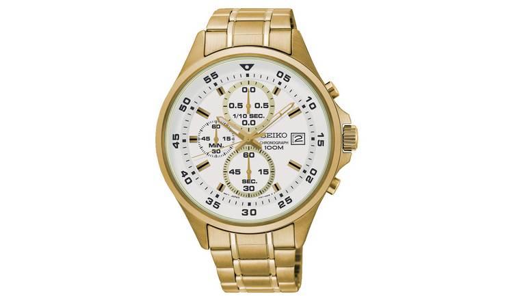 Seiko White Dial Mens Stainless Steel Strap watch £74.99 at Argos