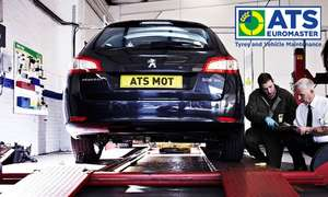 ATS Euromaster Class 4 MOT test with a vehicle health check, 10% off repairs £17.99 @ Groupon