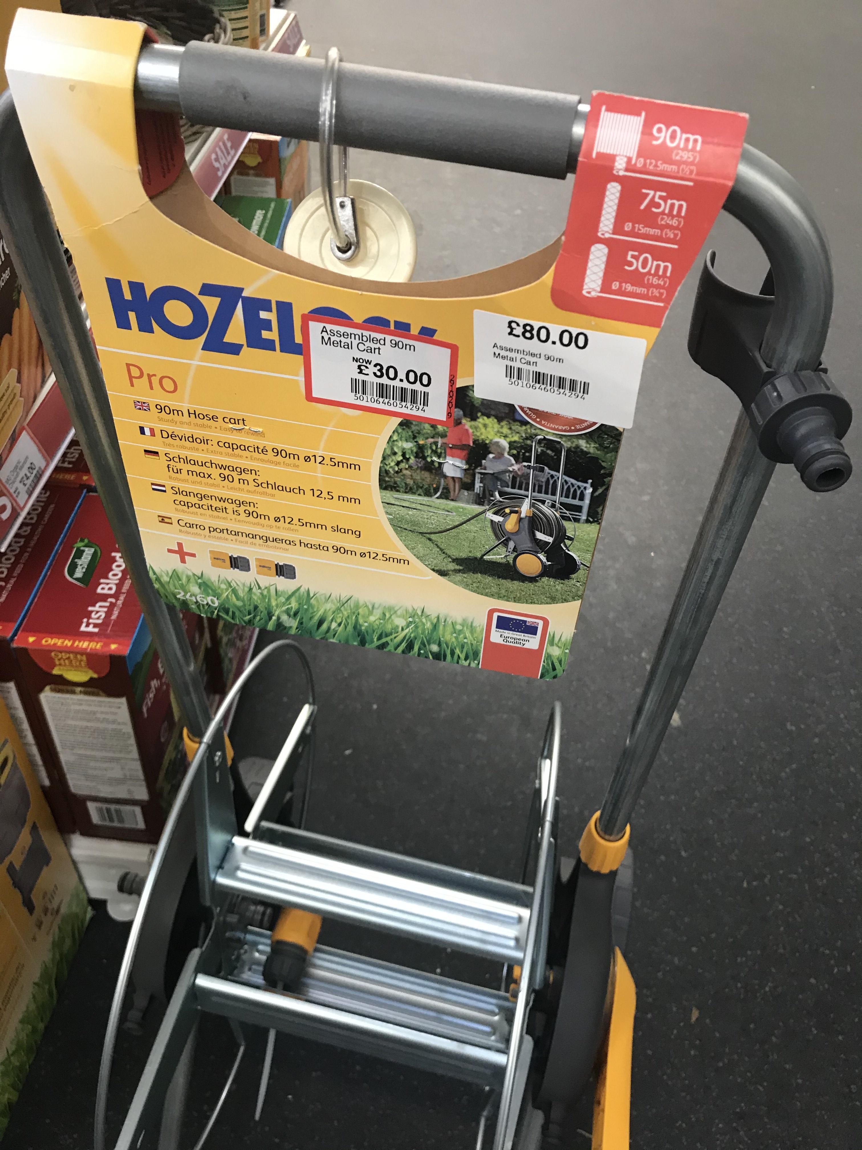 Hozelock 90m assembled metal hose cart £30 at Dobbies Garden Centre Telford