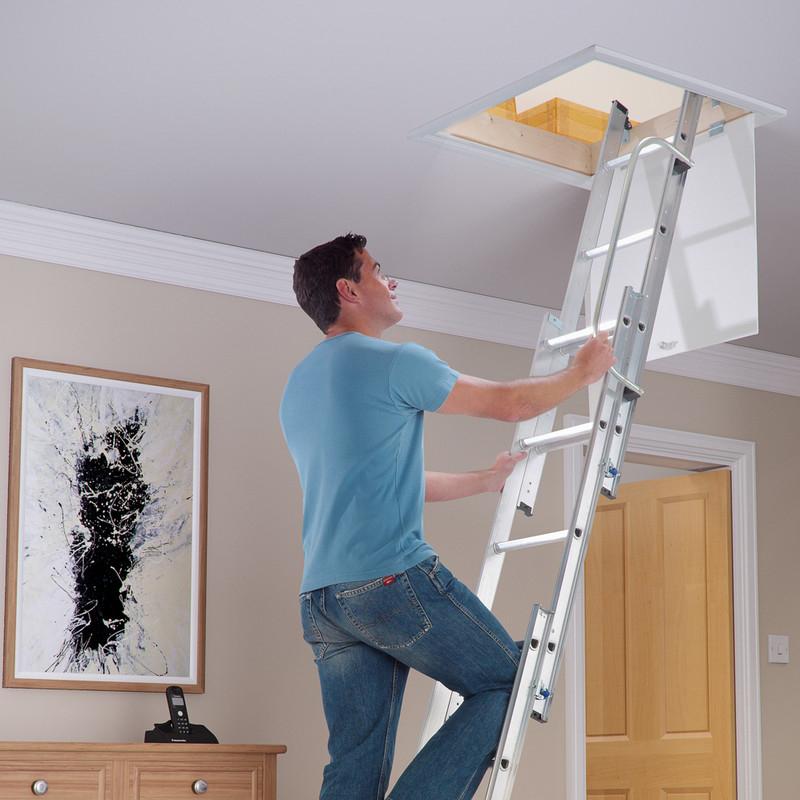 Werner Aluminium Loft Ladder 3 Section £54.99 Delivered @ Toolstation