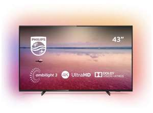 Philips Ambilight 43PUS6704/12 TV 43 inch LED Smart TV £349 @ Amazon