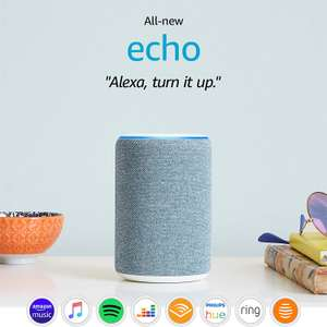 All-new Amazon Echo (2019 - 3rd Generation) | Sandstone / Blue - £59.99 delivered @ Amazon UK