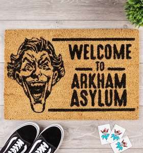 DC Comics The Joker Welcome To Arkham Asylum Door Mat £11.99 + £3.95 delivery & Upto 50% off Sale at Truffle Shuffle
