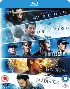 47 Ronin/Oblivion/Battleship/Immortals/Gladiator (5 Blu-Ray Box Set) £7.20 at Zoom