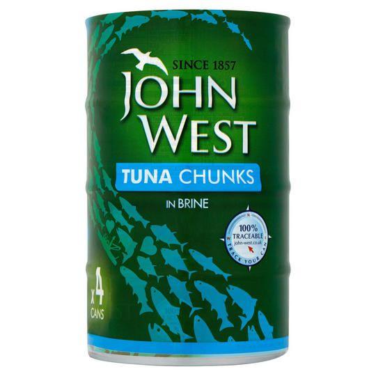 John west tuna chunks in brine / sunflower oil 4x145g X2 packs (8 cans)£6 @ iceland
