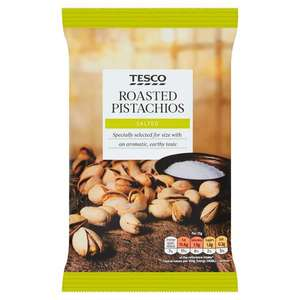 Tesco Roasted Salted Pistachio Nuts 150G 93p instore