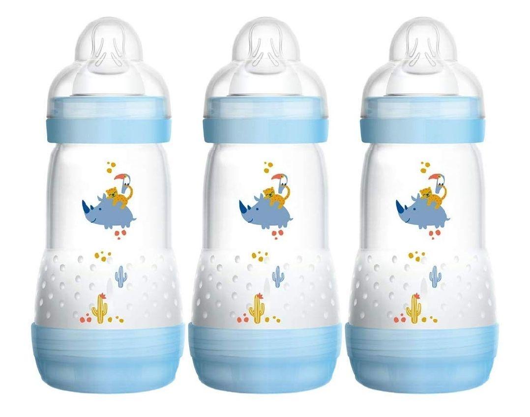 MAM Easy Start Self Sterilising Anti-Colic Bottle Pack of 3 (3x260ml) - £14.99 (Prime) / £19.48 (non Prime) at Amazon