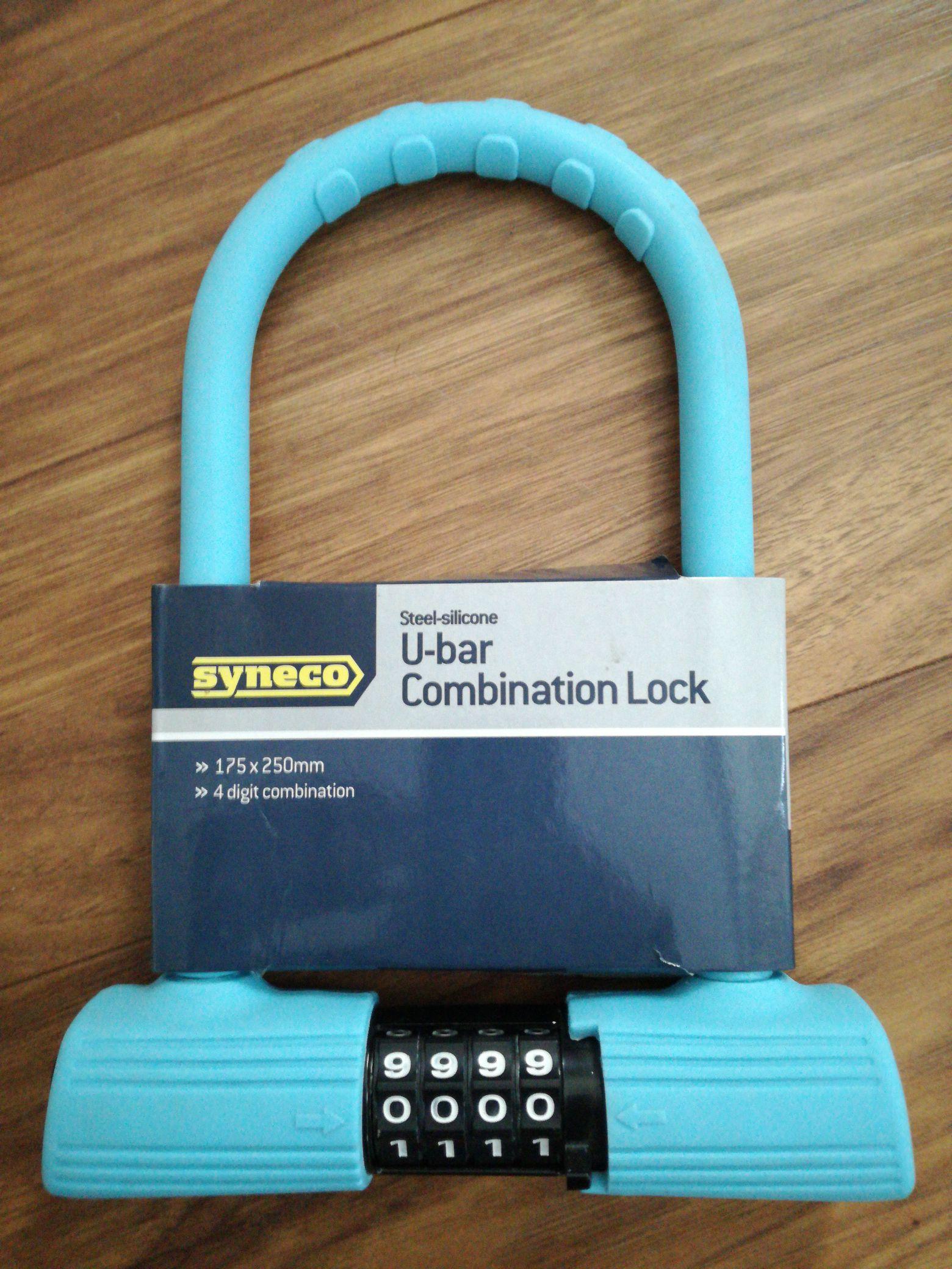 Syneco U-bar combination lock @ Homebase @ Sutton Coldfield branch - £1