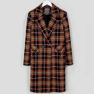Check Double Breasted Coat (was £29) Now £10 click & collect @ Matalan