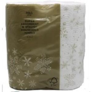 Marks and Spencer festive 4 pack toilet roll 62p (Kensington)