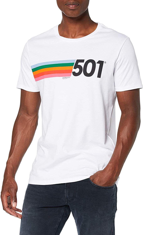 Levi's White Graphic 501 T-shirt @ Amazon for £12.50 (Prime) £16.99 (Non Prime)