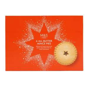 M&S 6 classic mince pies now £0.45